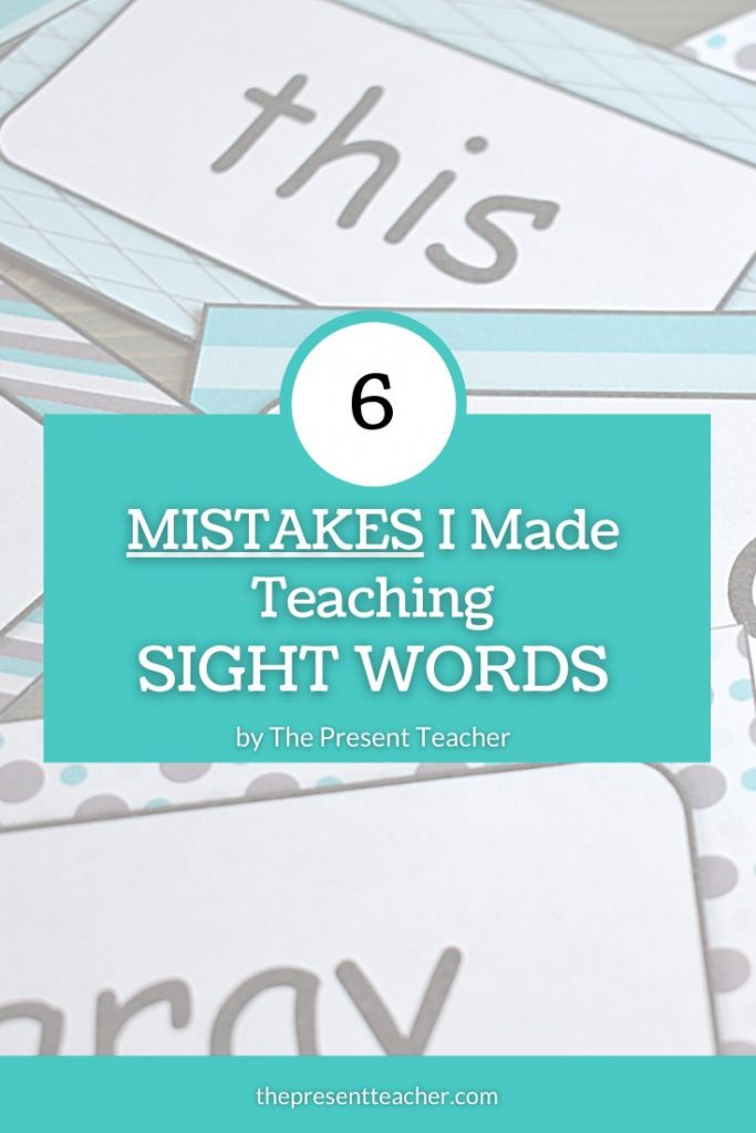 Mistakes with Sight Words