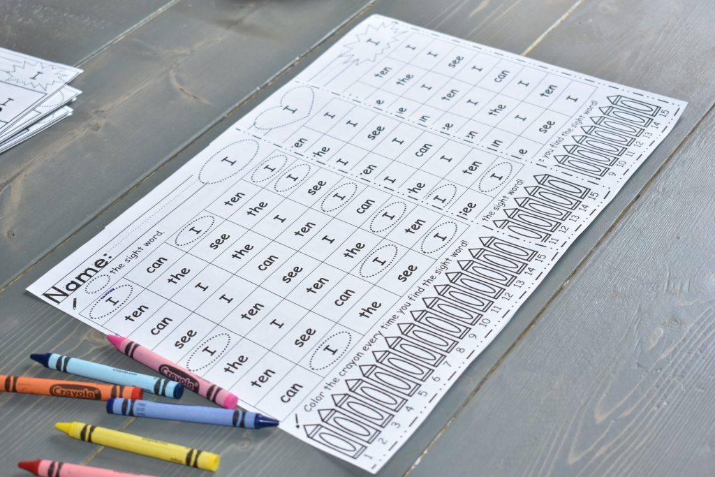Free Find the Sight Word DIfferentiated Worksheets. Perfect for small group, stations, and whole group activities! Differentiated into 3 levels and coded by the shape on the top right corner. @thepresentteacher