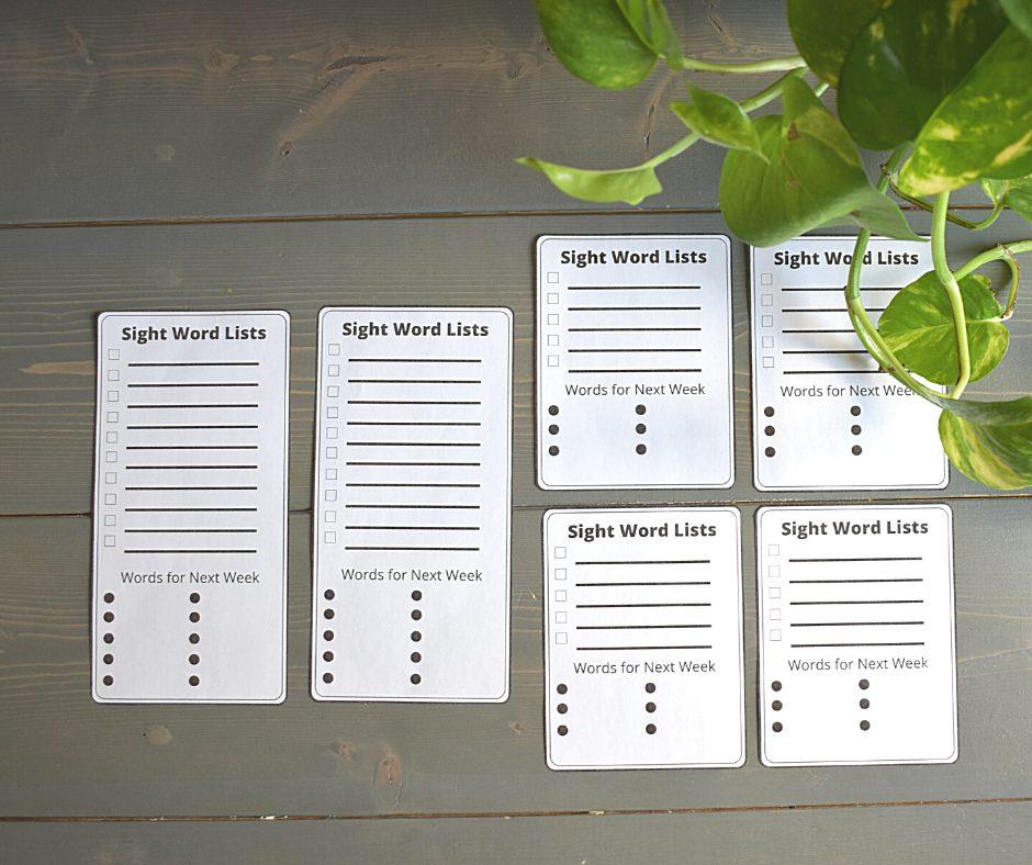Sight Word List Free Resource @thepresentteacher