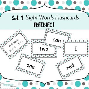 Set 1 Sight Word Flashcard Freebies! Perfect for whole group and small group activities! Contains 30 Sight Word Flashcards in 3x5 and 5x8 @thepresentteacher