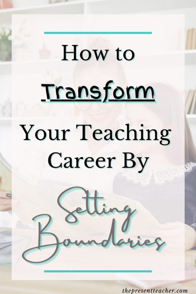 Are you a feeling teacher burnout and need to revive your passion for teaching? In this post I talk about how self-care and boundaries can help renew your teaching career. Also get access to my Free 30 Day Self Care Teacher Challenge! @thepresentteacher