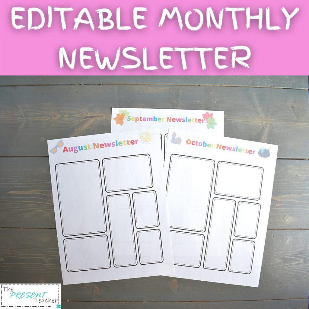 Parent Communication Form Monthly Newsletter @thepresentteacher