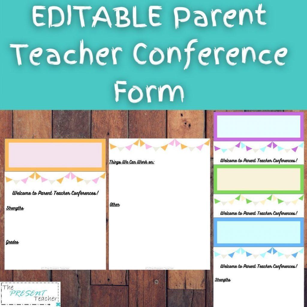 Parent Teacher Conference Form on Teachers Pay Teachers @thepresentteacher