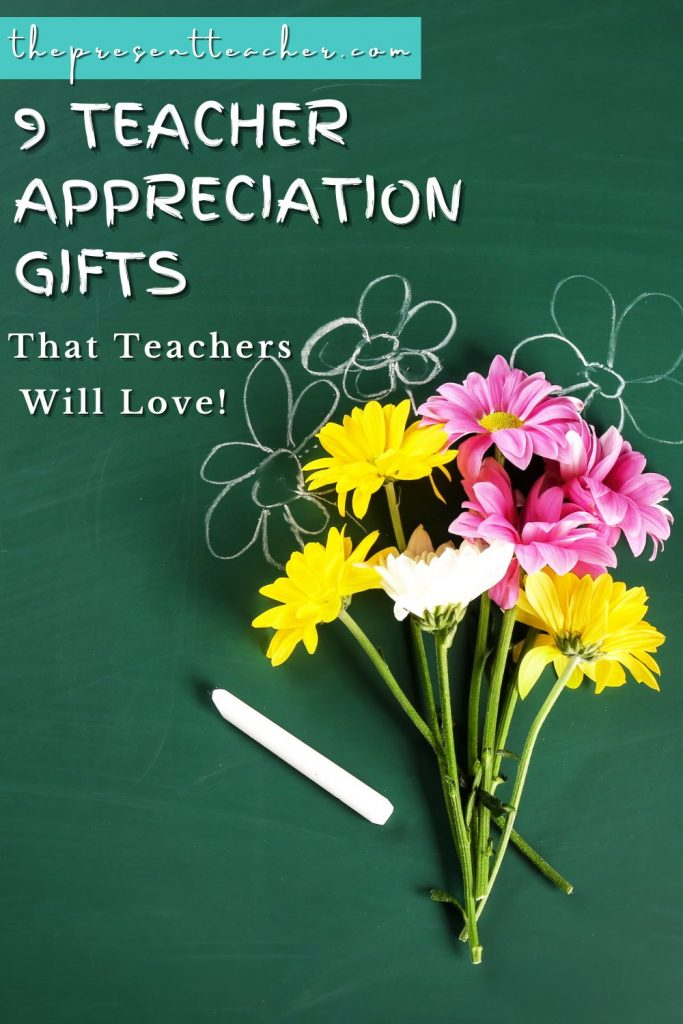 Are you looking for teacher appreciation gift ideas for you favorite teacher or teacher bestie? Check ou these 9 Teacher Appreciation Gifts that teachers will love. These Teacher Self-Care Gifts are perfect for teacher appreciation week because they are quick, easy, affordable, and gifts that teachers actually enjoy.  Click to read now! @thepresentteacher