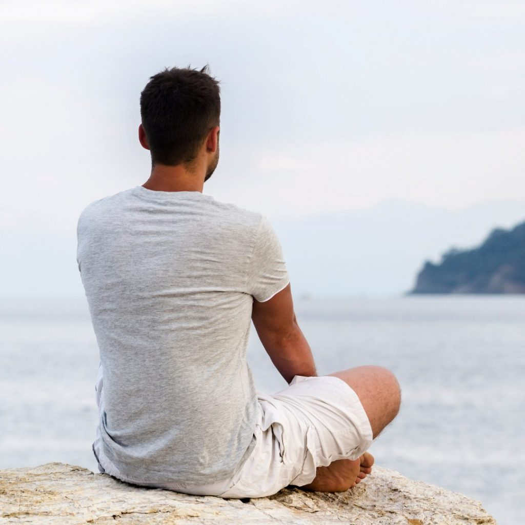 Meditating or sitting in nature or silence is another great example of summer self-care activities for teachers. @thepresentteacher