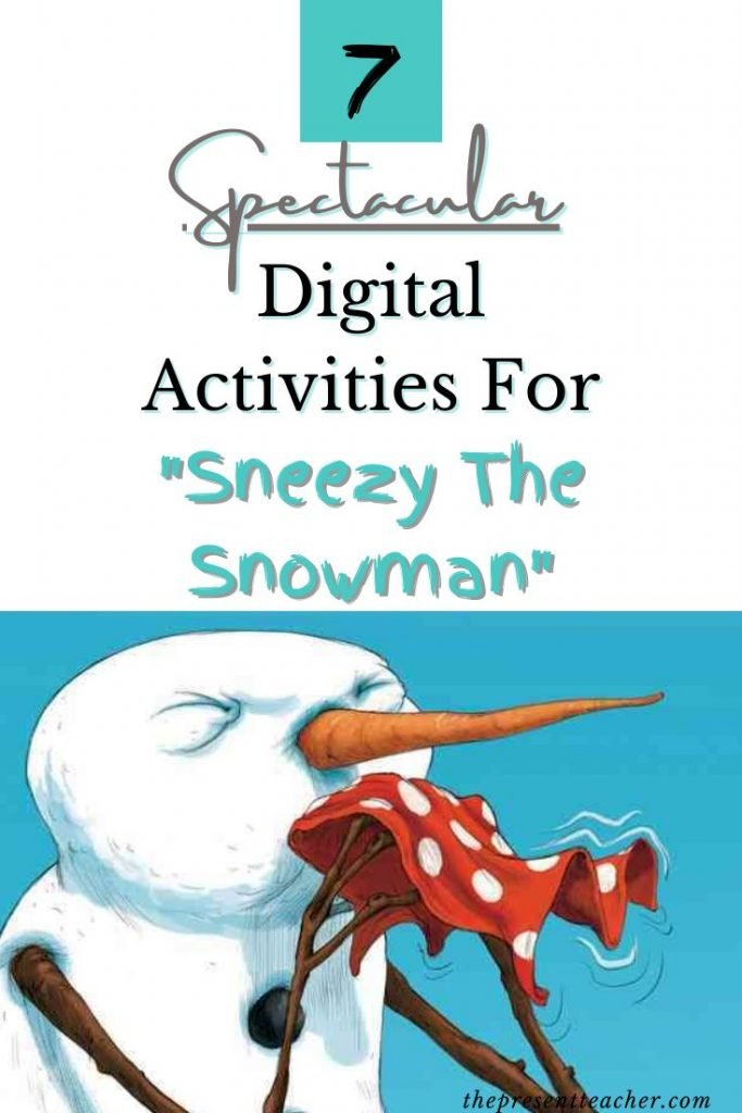 """Needing some winter digital activities for your Virtual Classroom? These """"Sneezy the Snowman"""" Distance Learning activities are perfect for Pre-K, Kindergarten, and 1st grade students. Click now to read more! @thepresentteacher"""