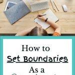 How to Set Boundaries as a Teacher in a Virtual Classroom